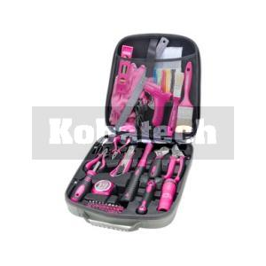 853f4f14f8538 Extol Sada náradia 63-dielna, plastový kufrík ružový, 6593
