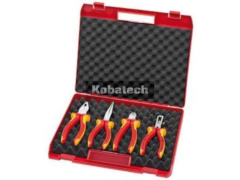 1e63c230a5966 Knipex 00 20 15 Box s náradím VDE pre elektrikára - 4 dielny. Kompaktný box  VDE 002015 pre elektrikára 1000V - 4 dielny Knipex Obsah boxu : Kombinované  ...